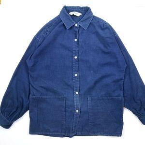 VTG 90's 80's L.L.Bean Corduroy Faded Button Shirt